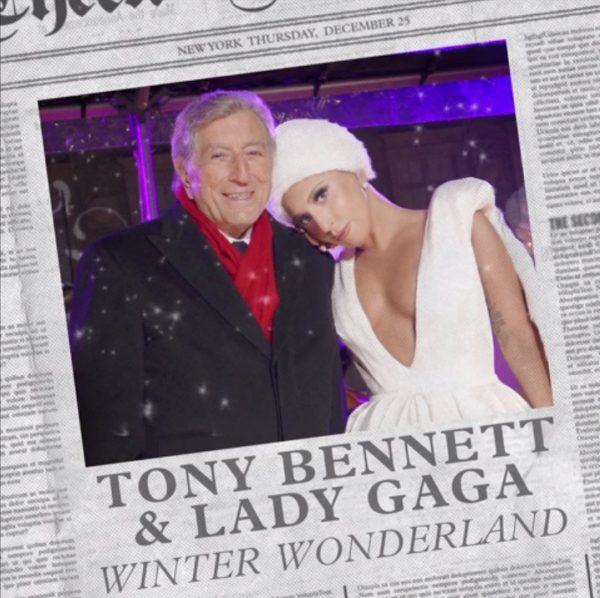 lady gaga winter wonderland thatgrapejuice 600x598 New Song: Lady GaGa & Tony Bennett   Winter Wonderland