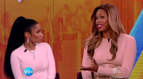 nicki minaj the view that grape juice 2014 1111 600x332 Watch: Nicki Minaj Promotes The Pinkprint On Controversial Episode Of The View