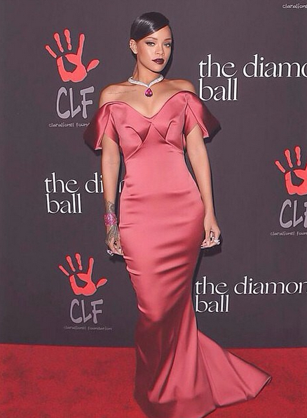 rihanna diamond ball that grape juice Watch: Rihanna Launches First Annual Diamond Ball