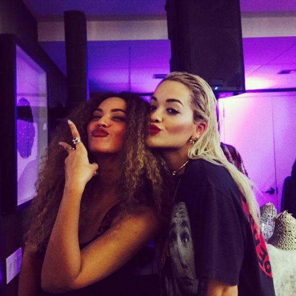 rita ora beyonce thatgrapejuice 600x600 Hot Shot: Rita Ora Beams With Beyonce