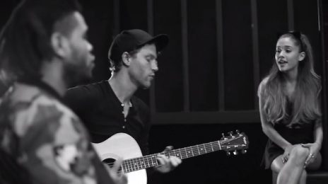 Watch: Ariana Grande & The Weeknd Wow With Acoustic Version Of 'Love Me Harder'