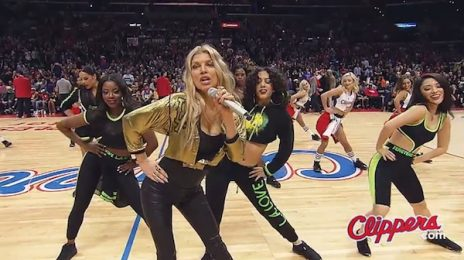 Must See: Fergie Gives Surprise Performance Of 'L.A. Love' At Clippers Game / Team Owner Goes Wild
