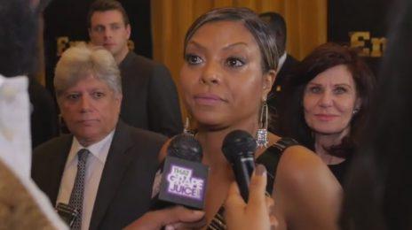 Exclusive: Terrence Howard & Taraji P. Henson Dish On 'Empire' / Co-Star Naomi Campbell Has Diva Moment On Carpet