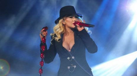 Watch:  Christina Aguilera & Nas Rock NBA All Star Game Opening [Full]
