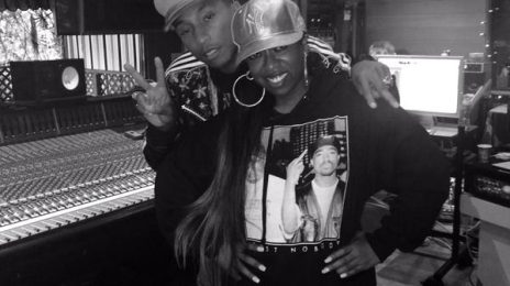 Missy Elliott Hits The Studio With Pharrell Williams