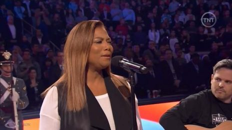 Watch:  Queen Latifah & Tamia Soar With National Anthems At NBA All Star Game