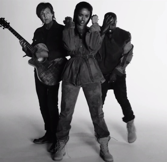 New Video: Rihanna - 'FourFiveSeconds (ft  Kanye West & Paul