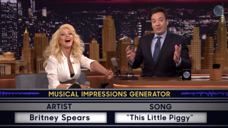 Watch:  Christina Aguilera Impersonates Britney Spears On 'The Tonight Show'