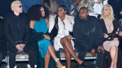 Hot Shots: Kelly Rowland Stuns At Lanvin Fashion Show With Solange, Kanye West, & Kim Kardashian