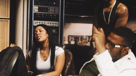 Hot Shots: K. Michelle & Jason Derulo Hit The Studio Together
