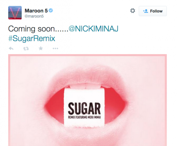 maroon-5-nicki-minaj-sugar-remix-that-grape-juice