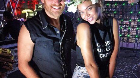 Hot Shot: Beyonce Poses With David Guetta At Coachella