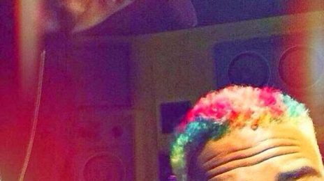 Hot Shots:  Chris Brown Unveils Rainbow Colored Hair