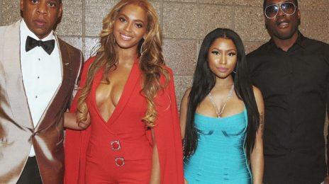 Hot Shots: Beyonce, Nicki Minaj, Jay Z, & Meek Mill Pose At Mayweather Fight