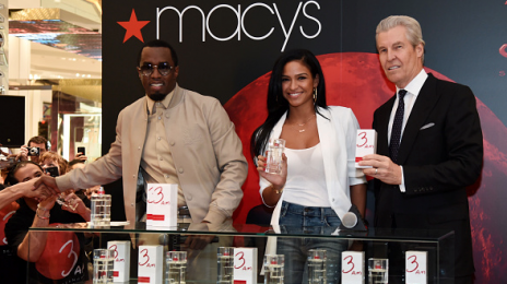 Hot Shot: Diddy & Cassie Hit Macy's For '3am' Fragrance Launch