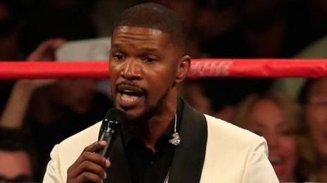 Watch:  Jamie Foxx Opens Mayweather/Pacquiao Fight With Church-Inspired U.S. National Anthem