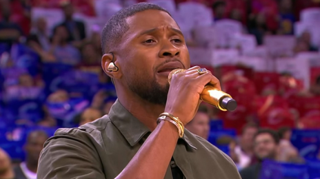 Did You Miss It? Usher Performs The U.S. National Anthem At NBA Finals