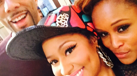 Hot Shot: Nicki Minaj & Eve On The Set Of 'Barbershop 3'