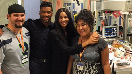 Hot Shots: Ciara Joins Russell Wilson At Weekly Visit To Children's Hospital