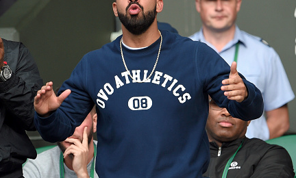 Hot Shots: Drake Enjoys The Sights & Sounds Of Wimbledon 2015