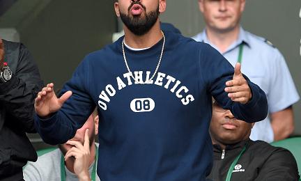 Hot Shots: Drake Enjoys The Sights & Sounds Of Wimbledon 2015
