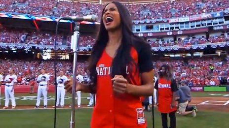 Ciara Talks National Anthem Performance / Reveals Technical Mishap