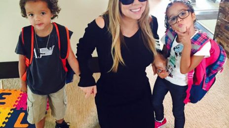 Hot Shot: Mariah Carey Takes Twins To First Day Of Summer School