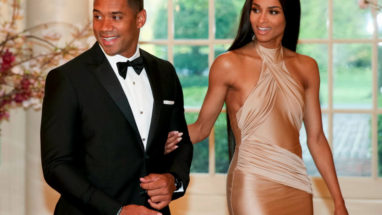 Russell Wilson Ciara Add 87 6 Million To Their Combined Earnings That Grape Juice