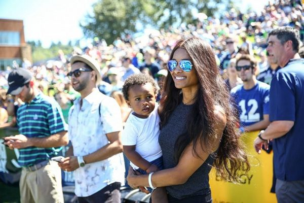 Happy Family: Ciara & Baby Future Support Russell Wilson ...