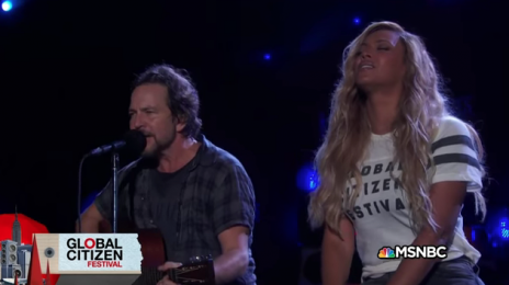 Watch: Beyonce & Pearl Jam Perform 'Redemption Song' Live At The 'Global Citizen Festival'