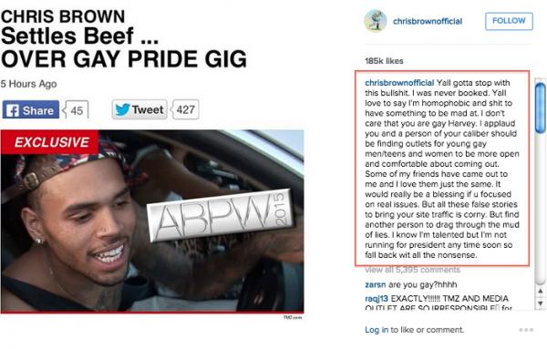 chris brown tmz clap back gay pride tgj