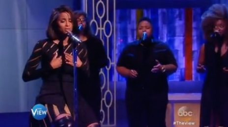 Watch: Ciara Performs 'Heal The World' On 'The View'