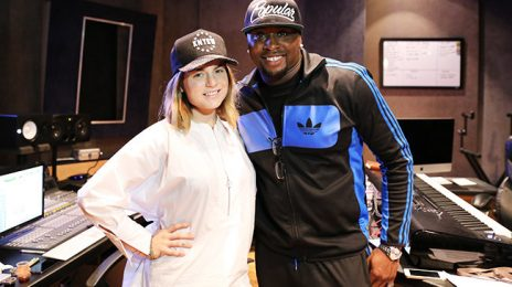 Behind the Scenes:  Jojo Hard at Work With Harmony Samuels On New Music [Video]