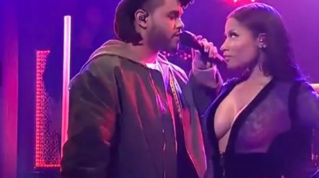 Watch: Nicki Minaj & The Weeknd Perform 'The Hills' Remix On 'Saturday Night Live'