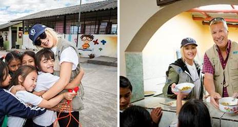 Hot Shots: Christina Aguilera Fights Famine In Ecuador