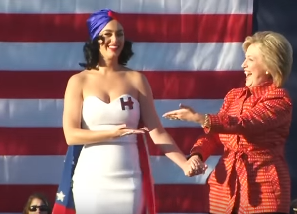 hillary clinton katy perry
