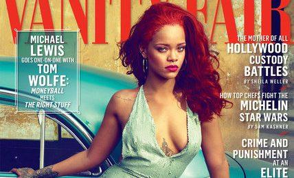 Rihanna Rocks 'Vanity Fair' With Red 'Do