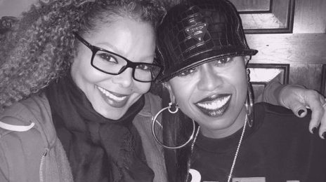 Hot Shot: Janet Jackson & Missy Elliott All Smiles At Catch Up