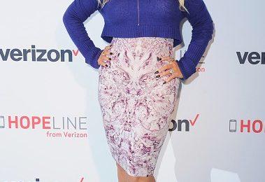 Christina Aguilera Cuts A Curvy Figure At Verizon Hopeline Event
