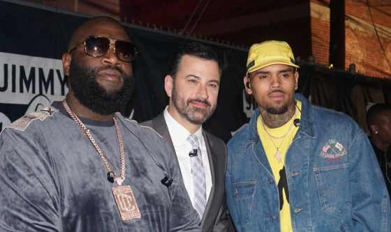chris brown thatgrapejuice kimmel rick ross
