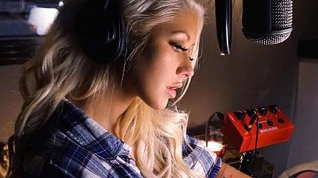 Hot Shot: Christina Aguilera Teases New Music With Studio Snap