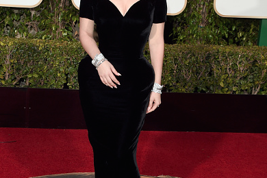 Hot Shots: Lady Gaga Oozes Old Hollywood Glamor At Golden Globes 2016