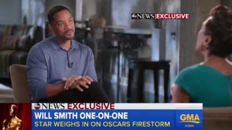 Will Smith Weighs-In On Oscars Race Row / Didn't Know Wife Had Made Video