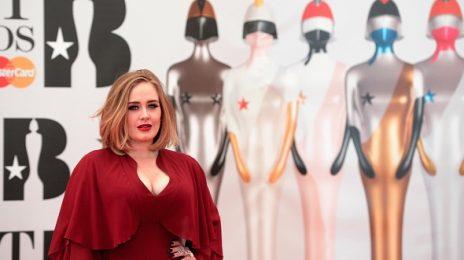 Hot Shots: Adele Arrives At 2016 BRIT Awards