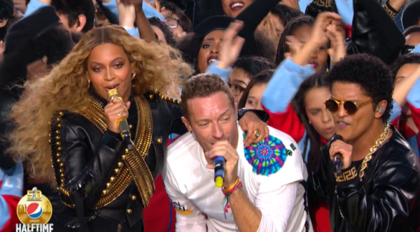 bruno beyonce coldplay halftime super bowl thatgrapejuice celebrity