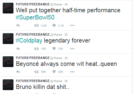 future superbowl celebrity reaction