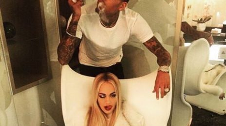 Hot Shot: Rita Ora & Chris Brown Cosy Up In Milan