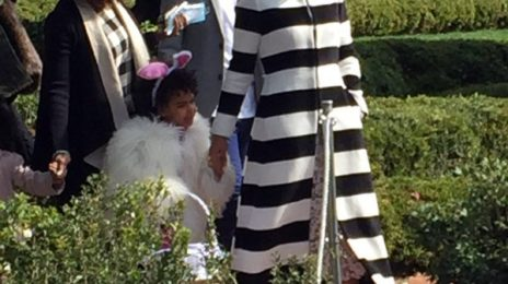 Hot Shots: Beyonce, Blue Ivy, & Julez Hit White House Easter Egg Roll