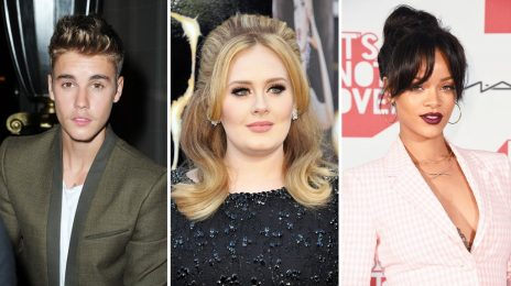 Chart Check [Billboard 200]:  Adele, Justin Bieber, and Rihanna Continue Top 5 Reign