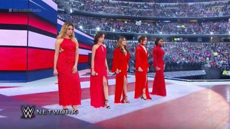 Watch: Fifth Harmony Amaze At WWE Wrestlemania With 'America The Beautiful'